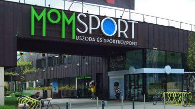 Bejárat Mom sport, északi homlokzat