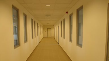 C Épület, folyosó a földszint és I,II emeleten