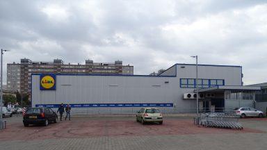 LIDL Áruház,Északi homlokzat(Felújítása előtt)